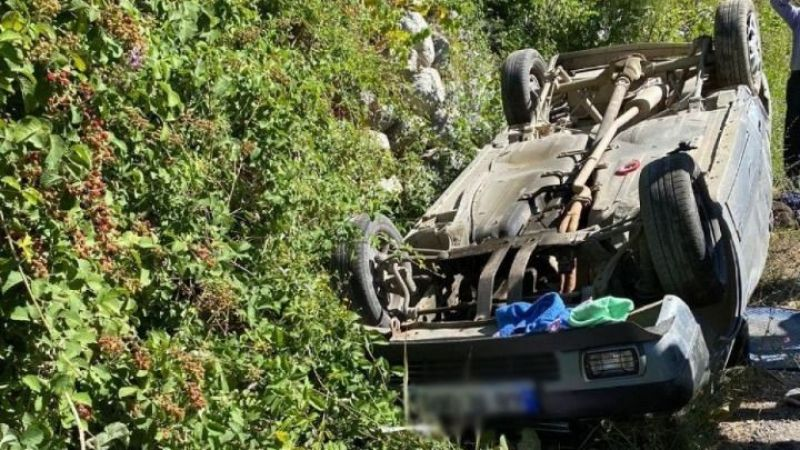 Kahramanmaraş'ta otomobil takla attı: 1 ölü, 4 yaralı