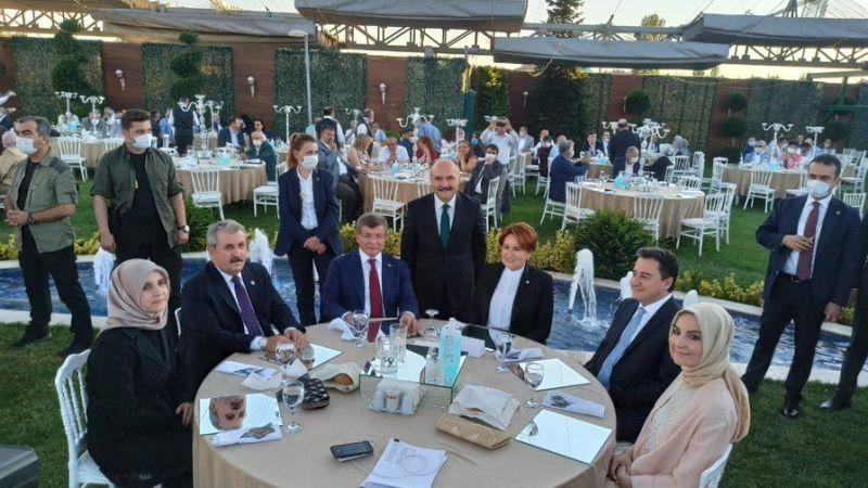 4 genel başkan düğünde buluştu