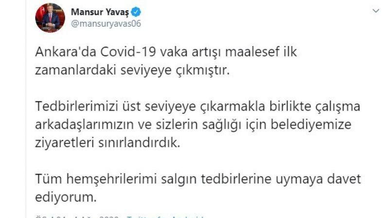 Mansur Yavaş'tan koronavirüs uyarısı