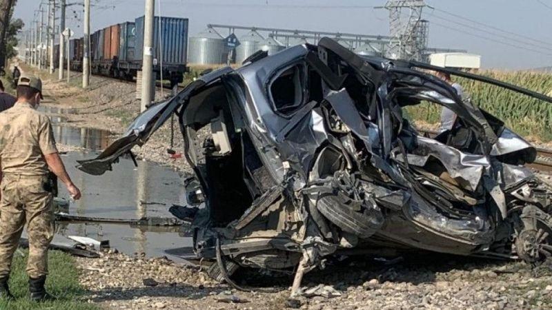 Kahramanmaraş'ta yük treni araca çarptı: 1 ölü