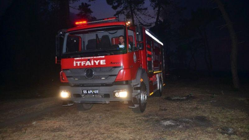 Samsun'daki sazlık yangını kontrol altında