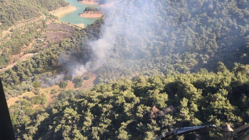 Ormanlık alanda çıkan yangın kontrol altında