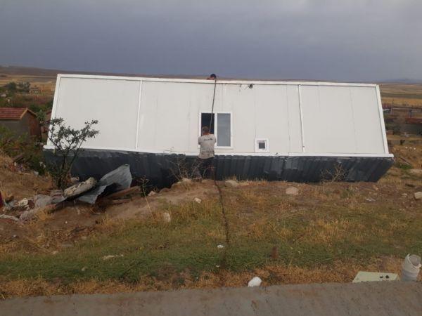 Kum fırtınası ve yağış Eskişehir'in Günyüzü ilçesinde hasara yol açtı - Eskişehir Haber