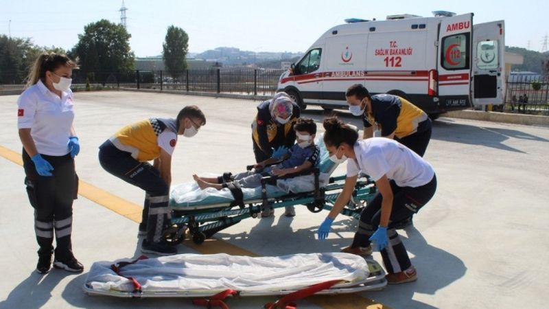 8 yaşındaki çocuk için ambulans helikopter gönderildi