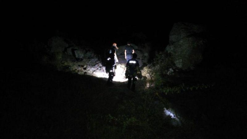 AFAD dağlık alanda mahsur kalan gençleri kurtardı