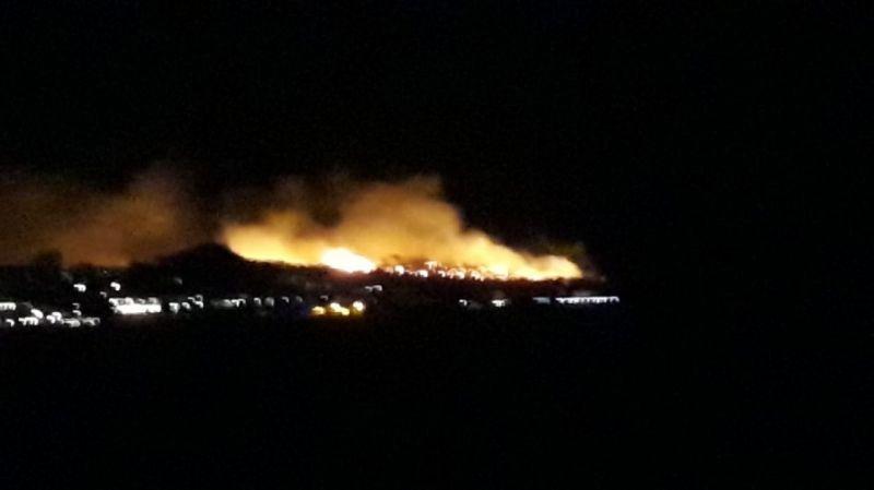 Son dakika haber- Ayvalık Şeytan Sofrası'nda orman yangını