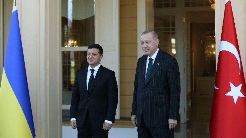 Cumhurbaşkanı Erdoğan Ukrayna Devlet Başkanı Zelenski ile buluştu
