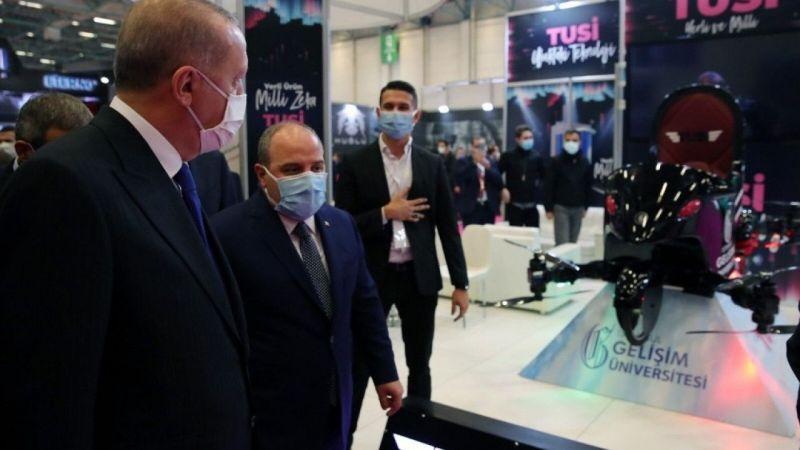 Cumhurbaşkanı Erdoğan, uçan araba TUSİ'yi inceledi | Son Dakika Haber