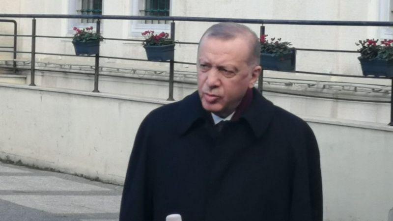 Cumhurbaşkanı Erdoğan Cuma namazı sonrası basın mensuplarının sorularını yanıtladı
