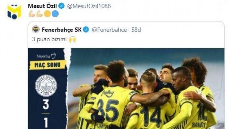 Fenerbahçe'nin yeni transferi Mesut Özil'den galibiyet paylaşımı