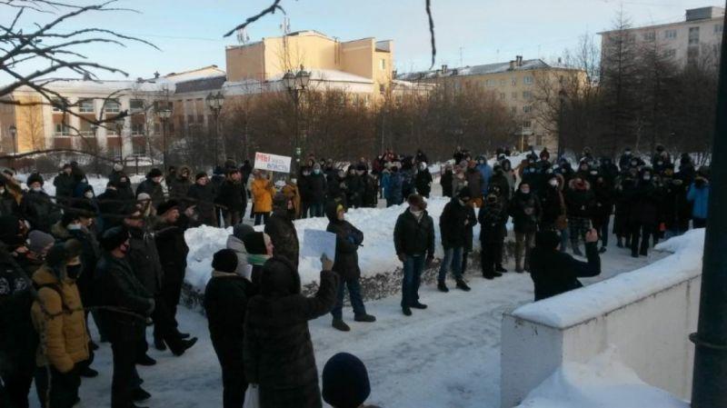 """Rusya'nın doğu kentlerinde """"Aleksey Navalny"""" protestoları başladı: """"Putin istifa"""""""