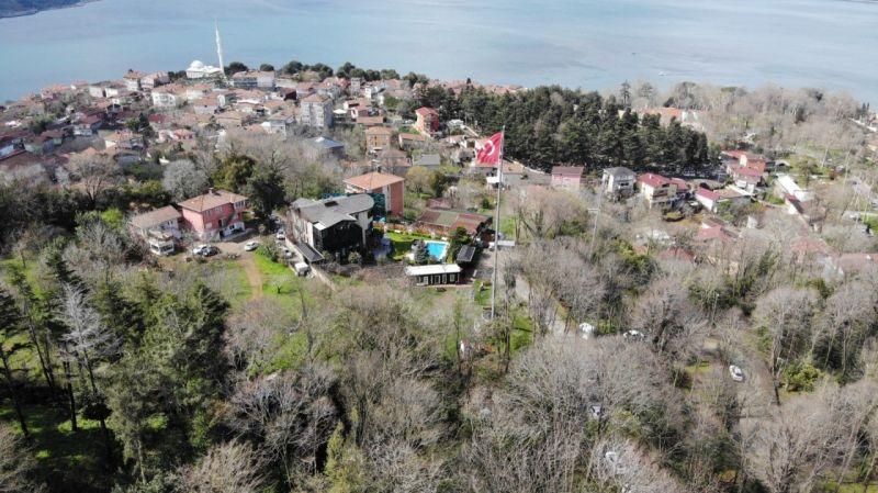Sedat Peker'in Beykoz'daki villası havadan görüntülendi |Son Dakika Haber
