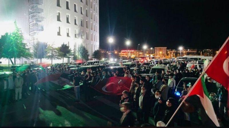 Malatyalılardan İsrail'e tepki 'Mescid-i Aksa'ya destek konvoyu   Son Dakika