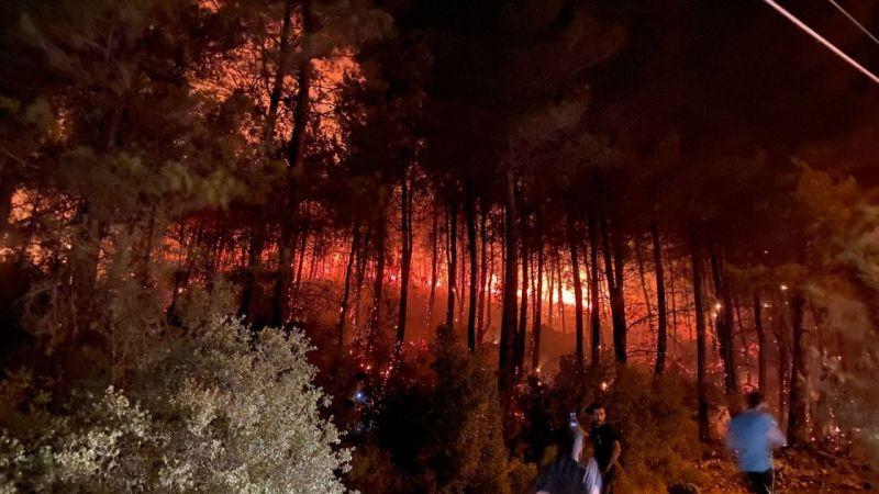 Fethiye'deki yangın uzun uğraşlar sonucu kontrol altına alındı