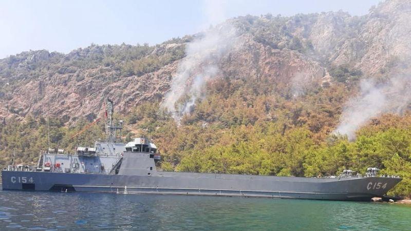 Deniz Kuvvetleri yangına müdahale ediyor |Son Dakika