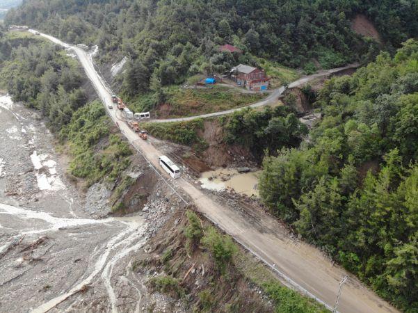 Sinop-Ayancık karayolu ulaşıma açıldı   Son Dakika
