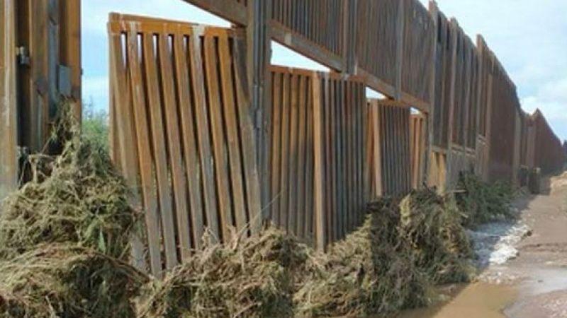 Trump'ın milyarlarca dolarlık Meksika duvarı çöktü | Son Dakika