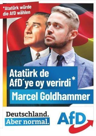 Almanya'nın ırkçı partisinden Atatürk'e hakaret   Son Dakika