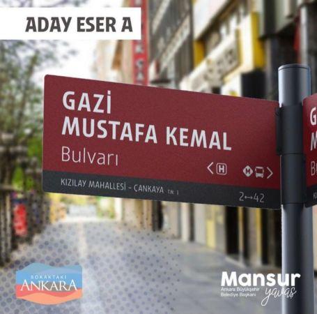 Ankara'nın yeni tabelalarını Başkentliler seçti |Son Dakika