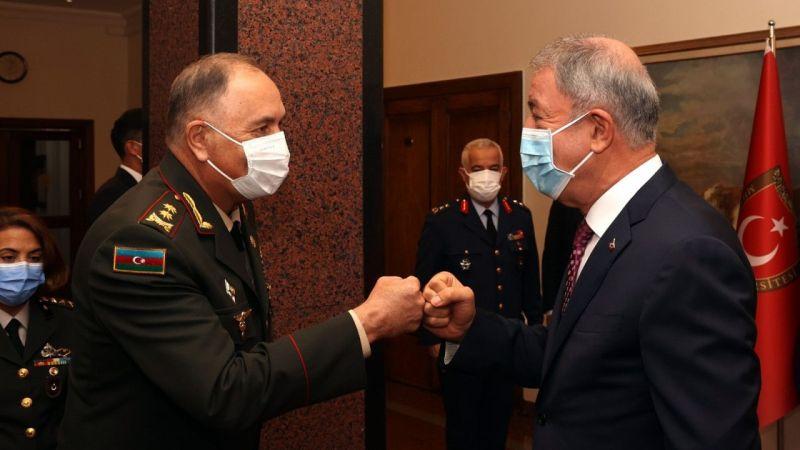 Milli Savunma Bakanı Akar, Azerbaycan Genelkurmay Başkanı Veliyev'i kabul etti | Son Dakika