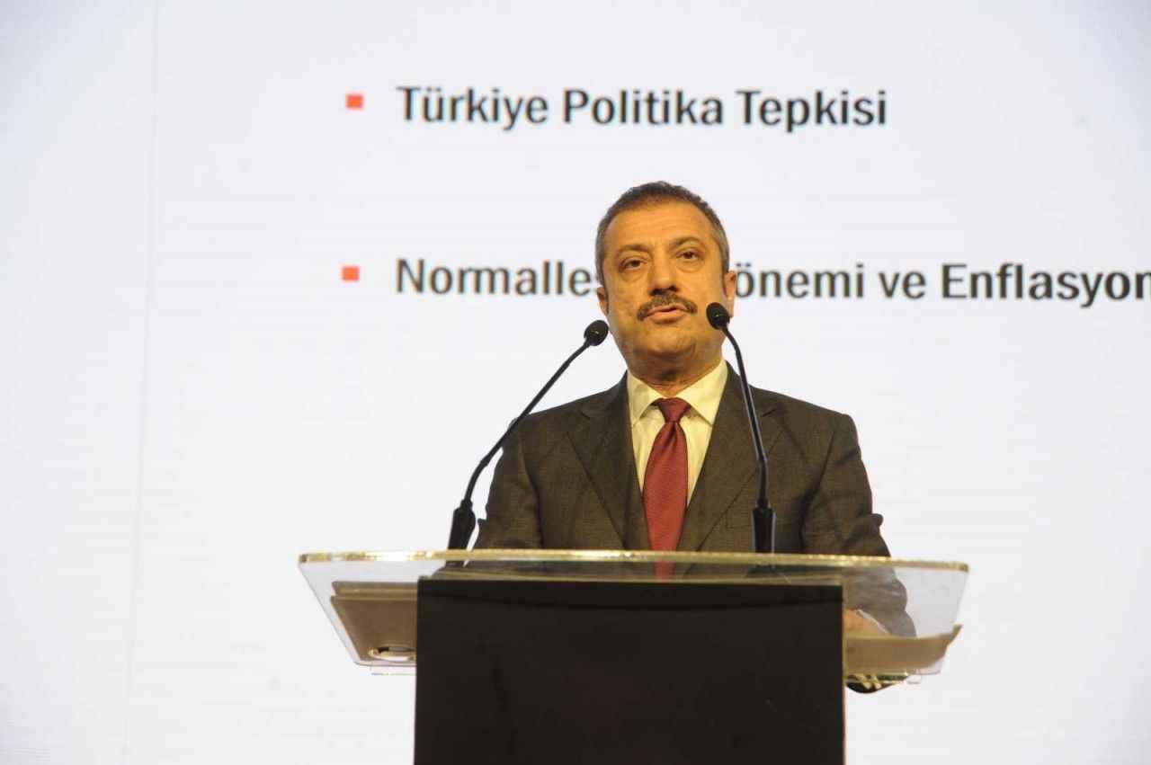 """TCMB Başkanı Kavcıoğlu: """"Merkez Bankası politika faizini aşağı çeken merkez bankaları arasında yer aldı"""" dedi"""