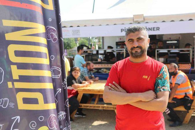 """Piton Döner"" Adana Lezzet Festivali'ne damga vurdu   Son Dakika"