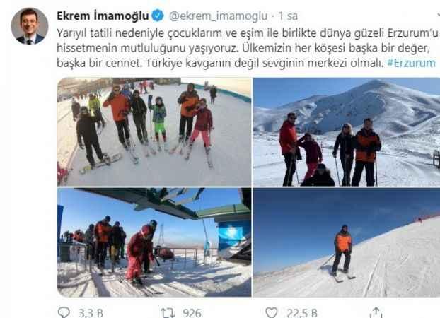 İmamaoğlu Palandöken'de