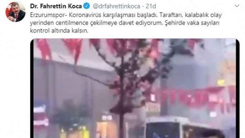 Erzurum Korona Virüs Uyarısı
