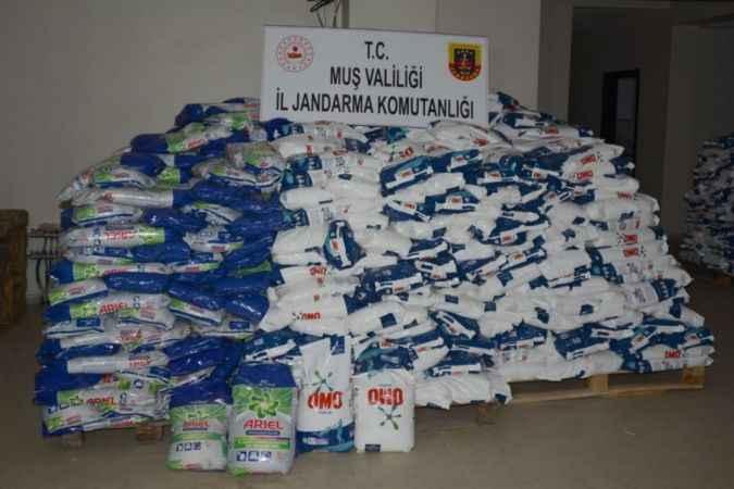 Muş'ta 24 ton sahte deterjan ele geçirildi