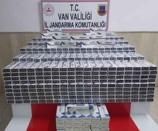 Çaldıran'da 8 bin 500 paket kaçak sigara ele geçirildi