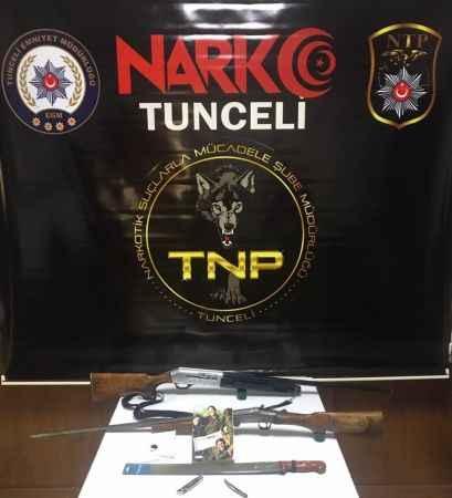 Tunceli'de torbacı operasyonu 8 gözaltı