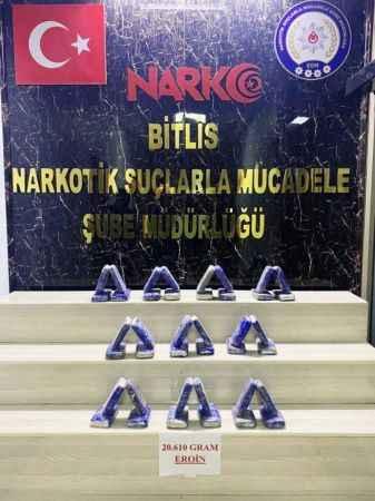 Bitlis'te 20 kilo eroin ele geçirildi