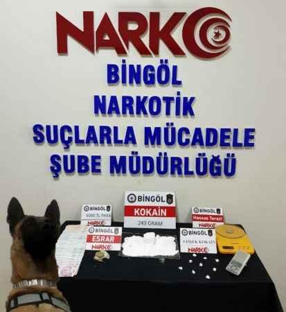 Bingöl'de uyuşturucu operasyonu 4 gözaltı!