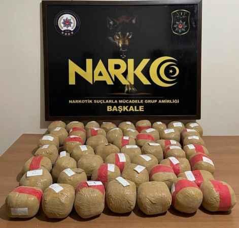 Başkale'de 52 kilogram 165 gram eroin ele geçirildi!