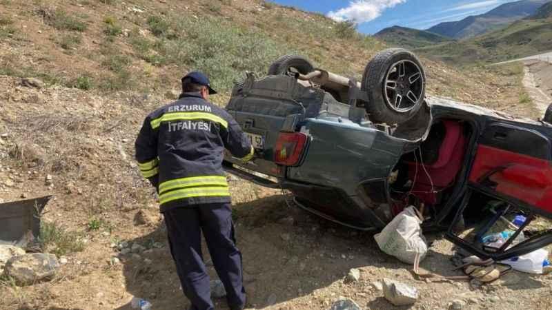 Aşkale'de  trafik kazası