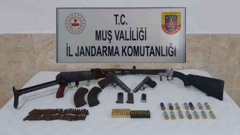 Muş'ta silah kaçakçılığı 4 gözaltı