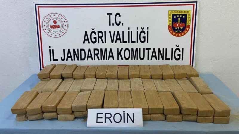 Ağrı'da 51 kilogram eroin ele geçirildi