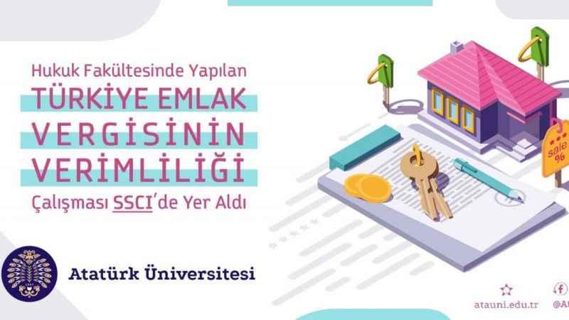 Hukuk Fakültesinde yapılan, Türkiye Emlak Vergisinin Verimliliği Çalışması SSCI'de yer aldı