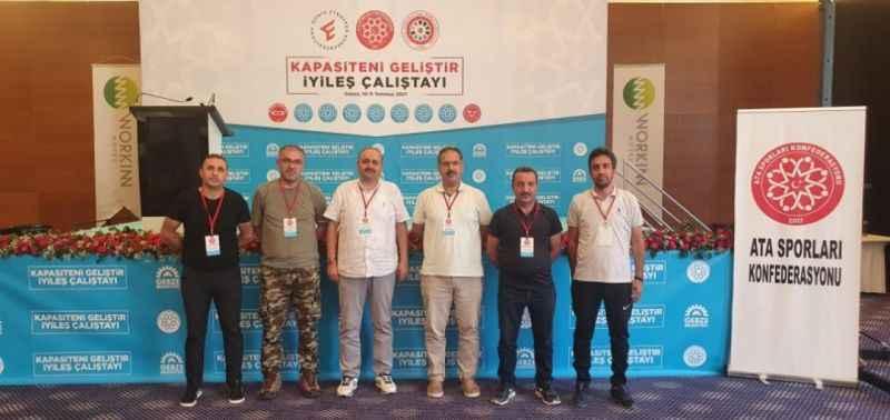 Doğu Anadolu Ata Sporları Federasyonu temsilcileri İstanbul çalıştayına katıldı