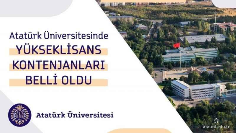 Atatürk Üniversitesi'nde lisansüstü kontenjanlar açıklandı !