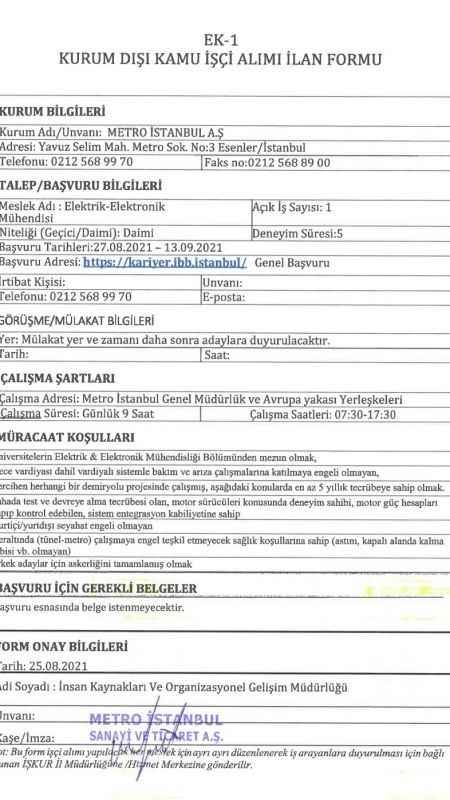 İstanbul Büyükşehir Belediyesi İş Başvurusu Nasıl ve Nereye Yapılır?