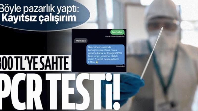 300 tl karşılığında sahte PCR testi!