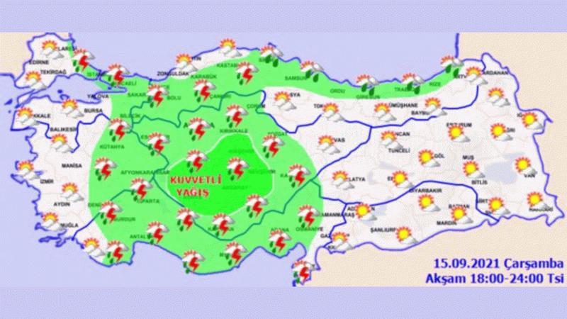 Ankara Valiliği'nden hava durumuyla ilgili sel ve dolu uyarısı!