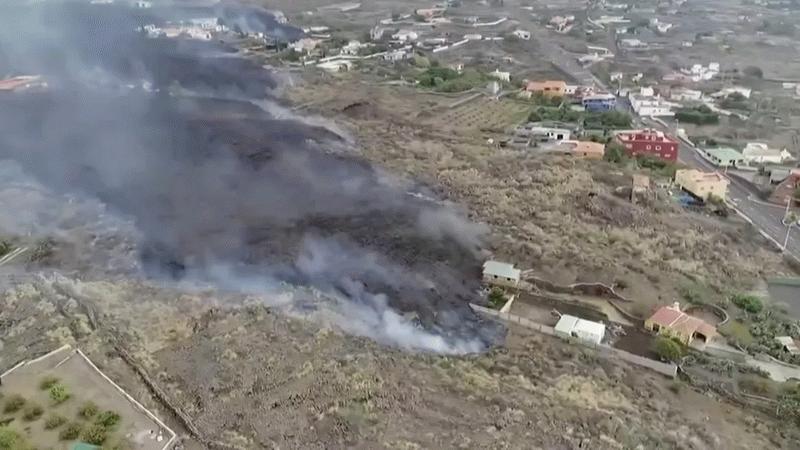 Akan lavlar havuzu doldurdu! La Palma'da felaket bitmiyor!