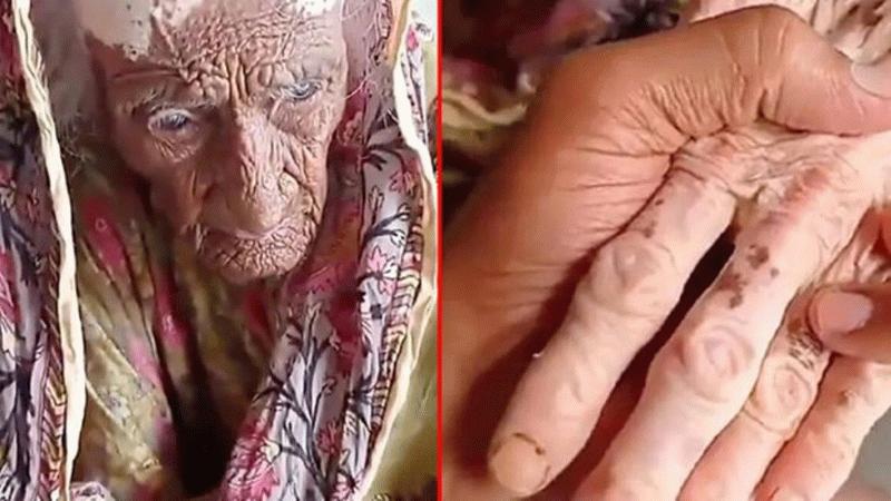 Dünyanın en yaşlı kadını! Sosyal medyada gündem oldu!