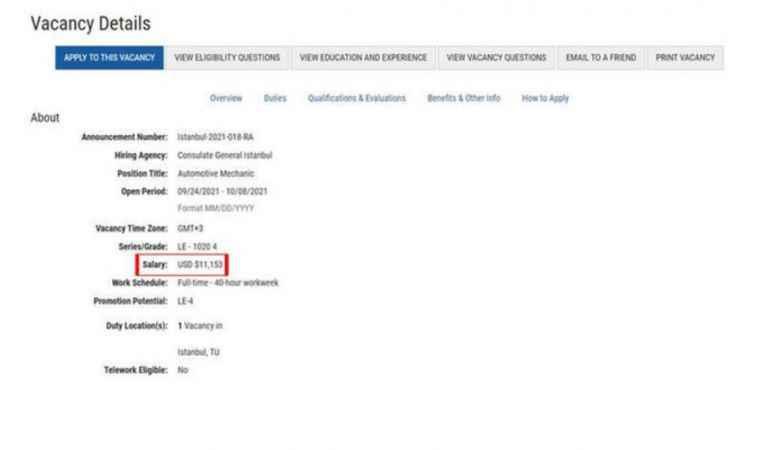 Aylık 99 bin TL maaş! ABD İstanbul Başkonsolosluğu'nun iş ilanı paylaşımı sosyal medyada gündem oldu