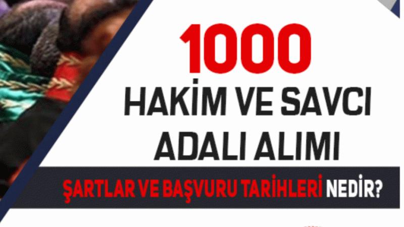 Adalet Bakanlığı 1000 Hakim ve Savcı Adayı Alımı( adli ve İdari yargı, avukatlık)
