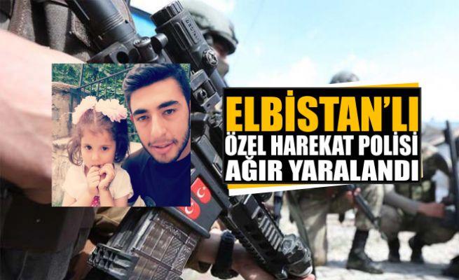 Elbistanlı Özel Harekat Polisi hain saldırıda ağır yaralandı
