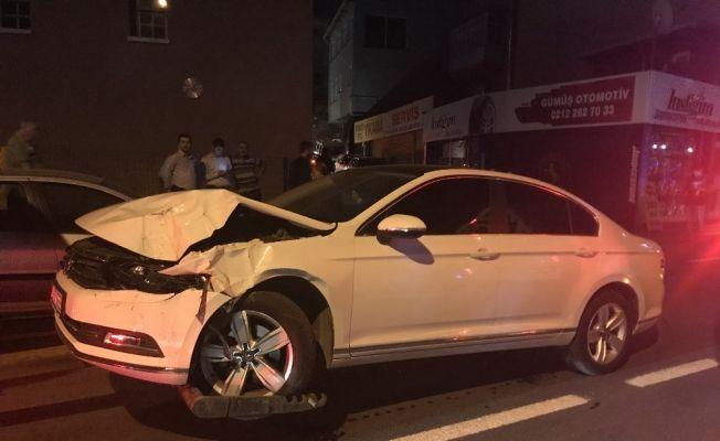 Beyoğlu'nda aracıyla takla atan sürücü aracını bırakıp kayıplara karıştı