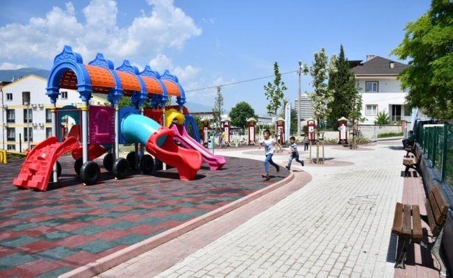 İnegöl'de çocuklara yeni oyun alanı